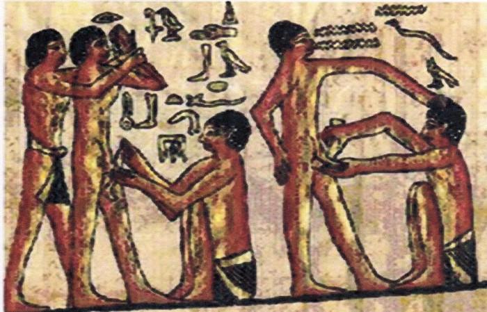 Staroegyptské Zobrazení Obřízky (kolem 2350 Př. N. L.),